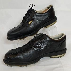 Footjoy Dryjoys Golf Shoes Black Leather 10.5
